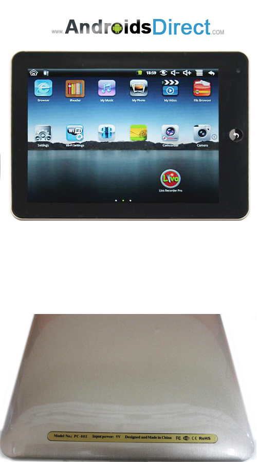 8505 8 Inch Google Android Epad Tablet PC Wifi Camera